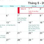Thông báo lịch nghỉ lễ 30/4 và ngày 1/5