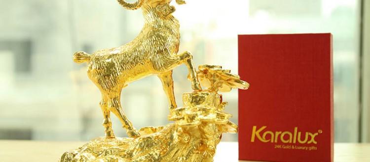 De phong thuy ma vang   Quà tặng Dê phong thủy mạ vàng 24K tại HN, TP HCM