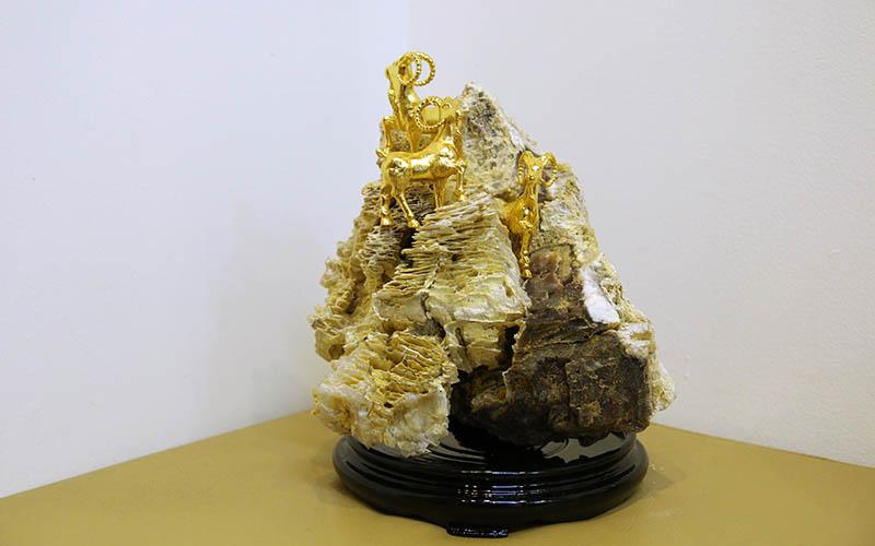 De phong thuy ma vang | Quà tặng Dê phong thủy mạ vàng 24K tại HN, TP HCM