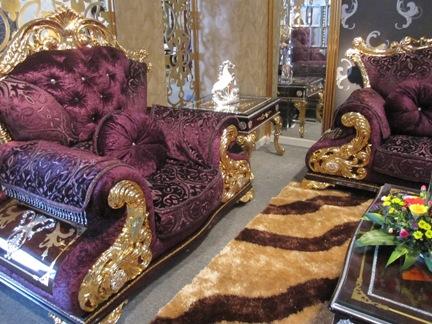 Ghe sofa ma vang 24K|Nội thất mạ vàng độc đáo