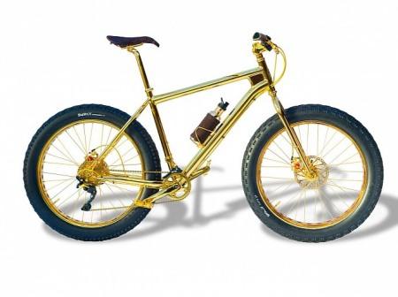 Xe đạp mạ vàng 24k|Xe dát vàng đắt nhất thế giới