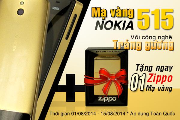 Nokia 515 Gold, giá bán Nokia 515 mạ vàng 24K