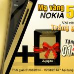 Thông báo: Khuyến mại lớn khi mạ vàng Nokia 515