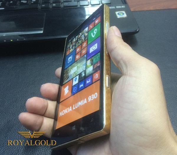 Nokia Lumia 930 ma vang 24K | Giá Điện thoại mạ vàng 18K