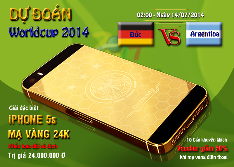 dự đoán kết quả trận chung kết Worldcup 20114 Đức và Argentina