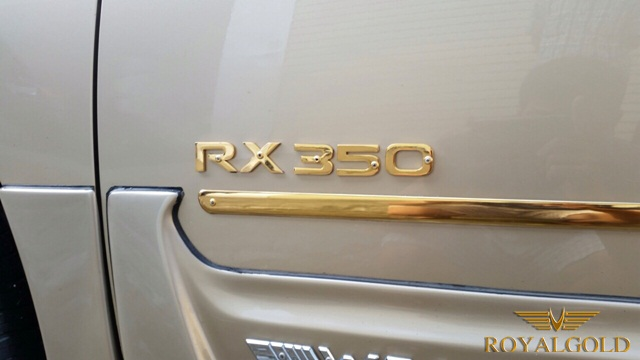 Lexus RX 350 Gold plated 4