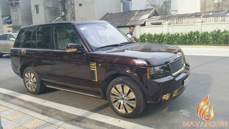 Range Rover 24K gold plated