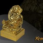 Thần Voi Ganesha thông thái, may mắn  mạ vàng độc đáo