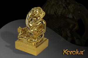 Tuong Voi ma vang Thần Voi Ganesha mạ vàng 24K độc đáo