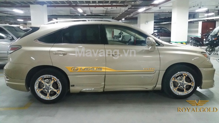 Lexus RX350 Gold plating in Vietnam, Lexus Gold Plated