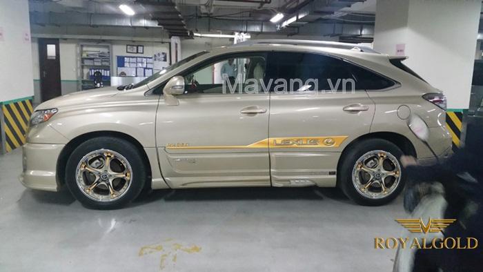 lexus RX 350 ma vang 24K, Xe Lexus mạ vàng 24K tại Việt Nam