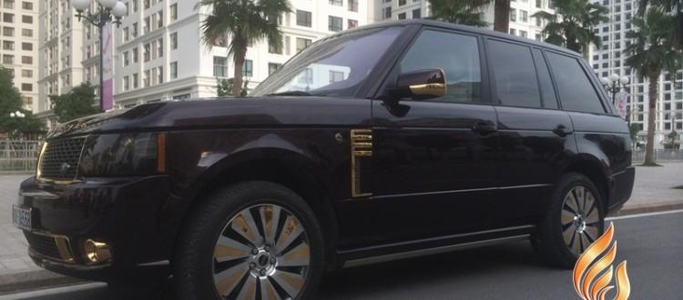 range rover ma vang 24K, Siêu xe Range Rover gold plated in Vietnam