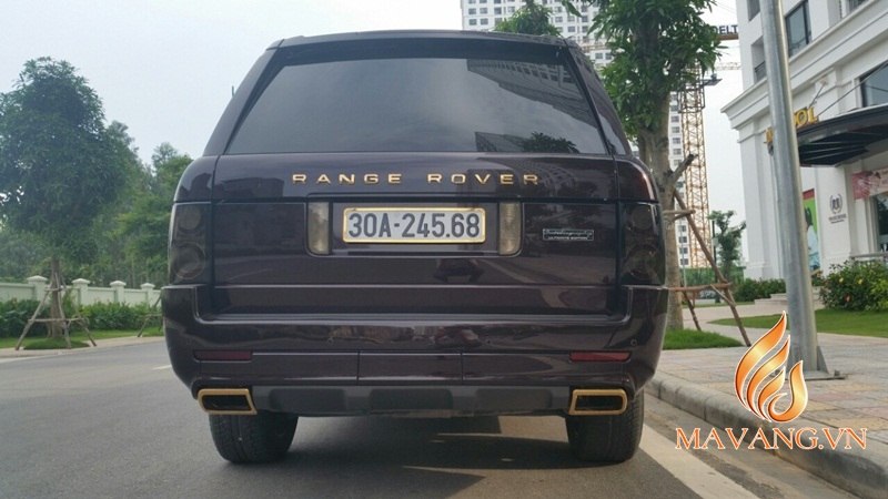 range rover gold plated in Vietnam