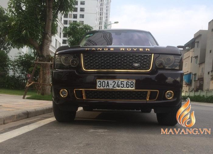 range rover ma vang 24K, Ô tô Range Rover mạ vàng tại Việt Nam