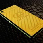 Sony Xperia Z2 mạ vàng với hoa văn độc đáo