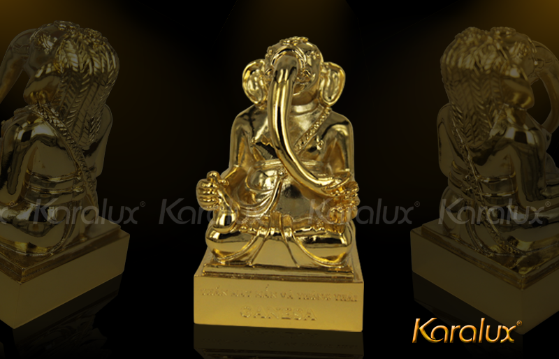 Tuong Voi ma vang|Thần Voi Ganesha mạ vàng 24K độc đáo