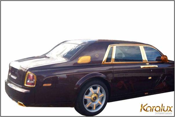 Rolls-Royce Phantom mat troi phuong dong, Rolls-Royce Phantom Oriental Sun mạ vàng 24K lộng lẫy
