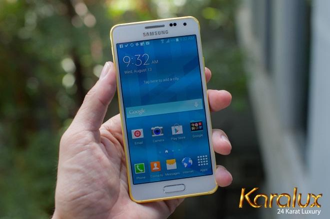 Samsung Galaxy Alpha ma vang | Điện thoại mạ vàng 24K