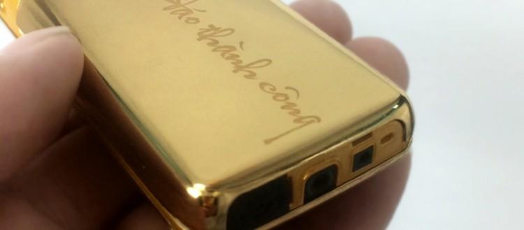 Nokia 6300 ma vang, N6300 Gold mạ vàng 24K