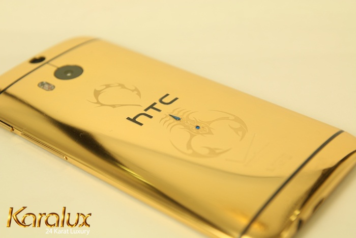 HTC One M8 ma vang | Điện thoại HTC mạ vàng 24K