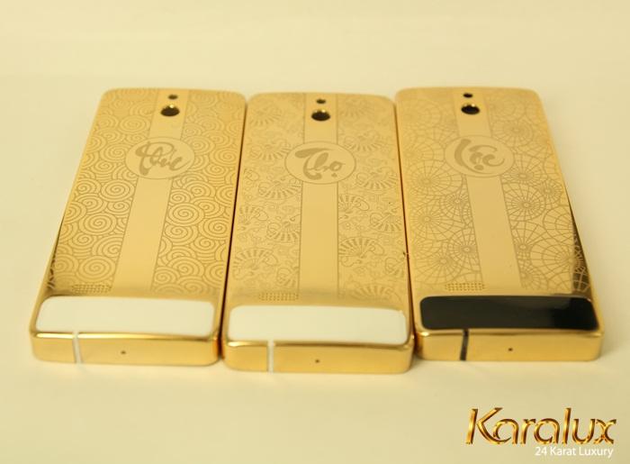 Nokia 515 mạ vàng 24K chạm khắc chữ Phúc Lộc Thọ