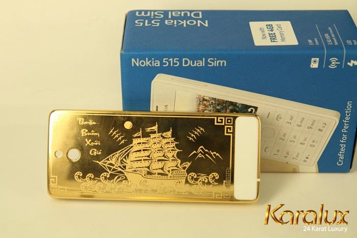 """Nokia 515 chạm khắc biểu tượng """" Thuận buồm xuôi gió """""""