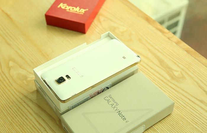 Note 4 gold, galaxy note4 mạ vàng 24K