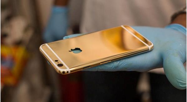 iphone 6 mạ vàng 24K Dien thoai iphone 6, 6 plus ma vang