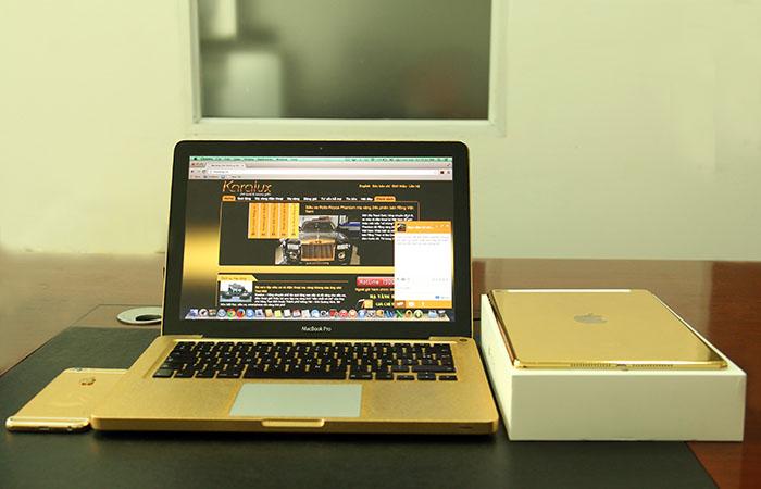 iPad Air 2 GOLD mạ vàng 24K đầu tiên trên thế giới bởi Karalux