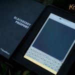 Karalux ra mắt Blackberry Passport mầu trắng mạ vàng đầu tiên trên thế giới