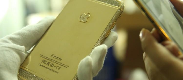 iphone 6 duc vang   Karalux trình làng iPhone 6 đúc vàng nguyên khối