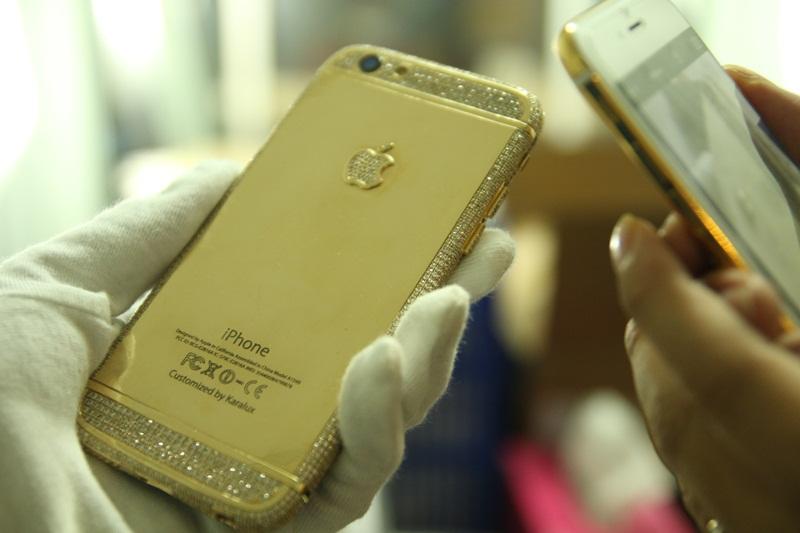 iphone 6 duc vang | Karalux trình làng iPhone 6 đúc vàng nguyên khối