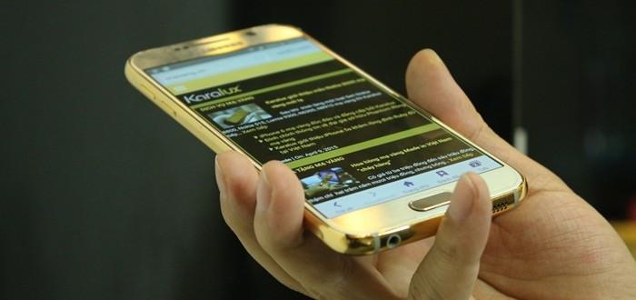 Galaxy S6 ma vang, Samsung Galaxy s6 mạ vàng tại HCM, Hà Nội