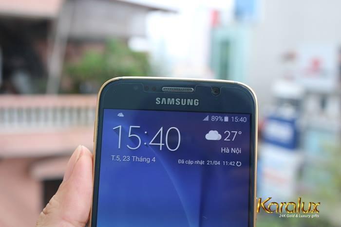 Galaxy S6 mau xanh ngoc | Giá Samsung Galaxy S6 màu xanh ngọc lục bảo mạ vàng 24K tại Hà Nội, Tp HCM