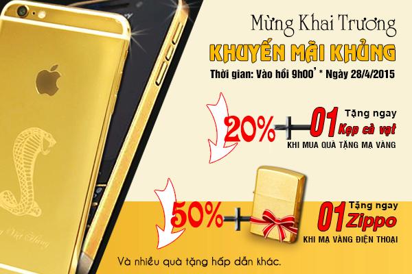 karalux khuyen mai, chương trình Mạ vàng 24K tặng quà và khuyến mại tại Hà Nội