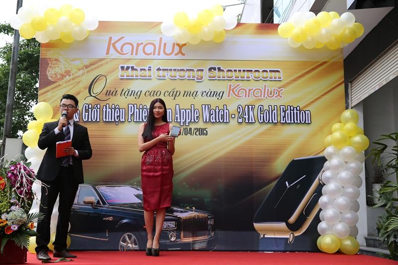 Người mẫu Đồng Ánh Quỳnh – Top 20 Hoa hậu Việt Nam 2014 với phiên bản BlackBerry Passport mạ vàng.