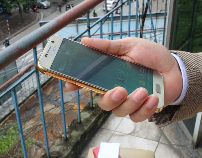 samsung Galaxy S6 gold, galaxy S6 mạ vàng 24K