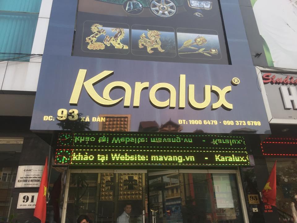 Showroom Quà tặng mạ vàng 24K Karalux tại Hà Nội, địa chỉ Karalux tại Hà Nội