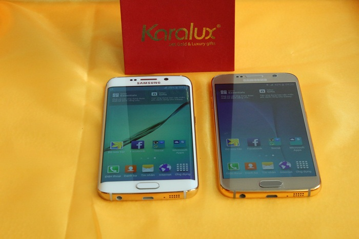 Samsung Galaxy S6 và S6 Edge mạ vàng 24k tại Tp HCM, Hn