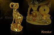 De thinh vuong, tượng dê thịnh vượng mạ vàng 24K