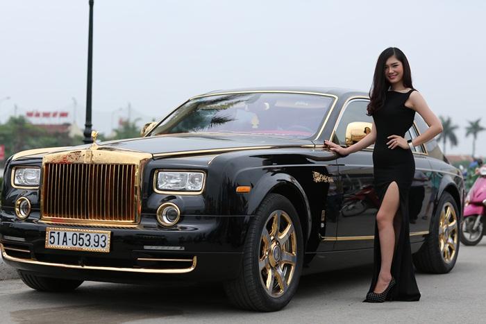 Rolls-Royce Phantom mạ vàng ở Việt Nam