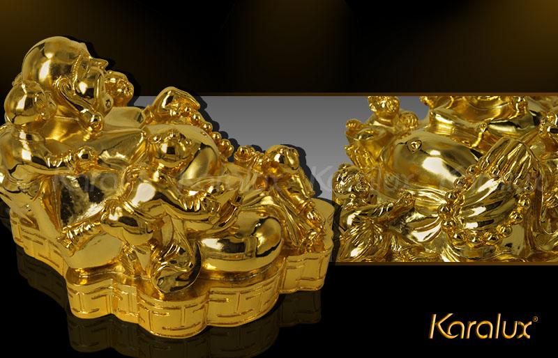 Tượng đồng Phật Di Lặc và 5 em bé