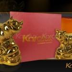 Bộ ảnh chi tiết tượng Heo mạ vàng 24k mang thương hiệu Karalux