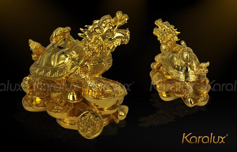Tứ linh: Long Ly Quy Phụng mạ vàng 24K