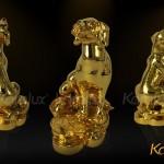 Quà tặng tết độc đáo 2018: Linh vật mạ vàng chế tác bởi Karalux