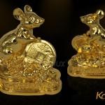 Chùm ảnh linh vật Chuột phong thủy mạ vàng độc đáo