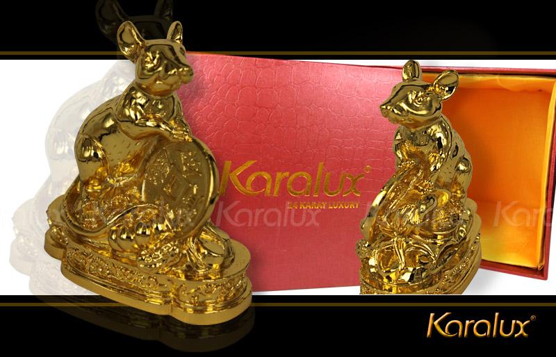 Tượng chuột phong thủy mạ vàng 24K