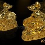 Tượng Chuột phong thủy mạ vàng mang lại sung túc, thịnh vượng