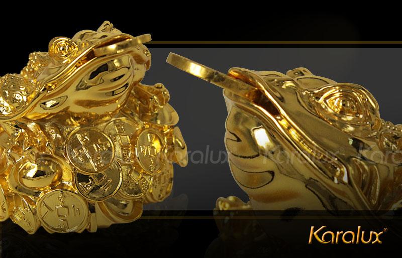 Cóc 3 chân ngậm tiền vàng mạ vàng 24K