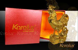 Tượng gà trống mạ vàng 24K
